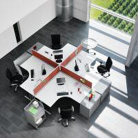 Рабочий кабинет для четырех сотрудников компании