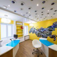 Желтый цвет в дизайне офиса