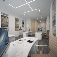 Встроенные стеллажи в офисе издательства глянцевого журнала