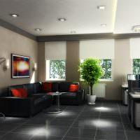 Удобный диван углового типа в зоне отдыха для сотрудников