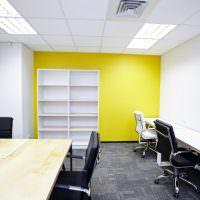 Желто-белый офис небольшой организации