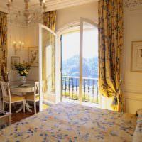 Желтые шторы дизайне спальни
