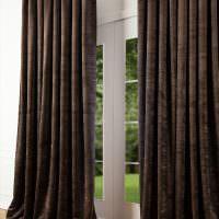 Черные шторы в лондонском стиле
