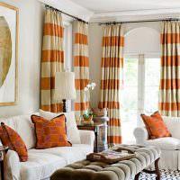 Использование оранжевого цвета в текстиле