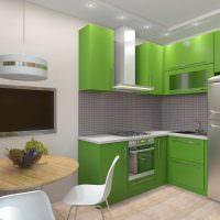 Дизайн кухни с подсветкой на потолке