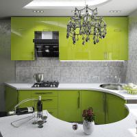 Кухонный гарнитур круглой формы