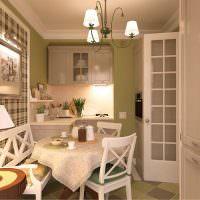 Кухня в стиле прованс в квартире многоэтажного дома