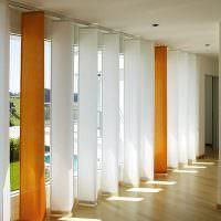 Тканевые жалюзи от пола до потолка