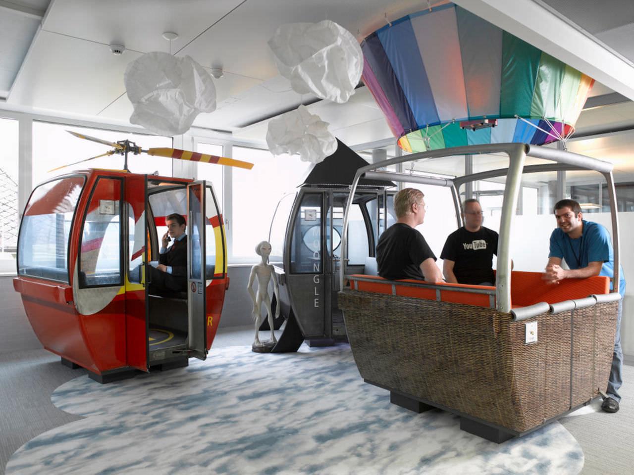 Креативный офис в кабинках от подвесной канатной дороги