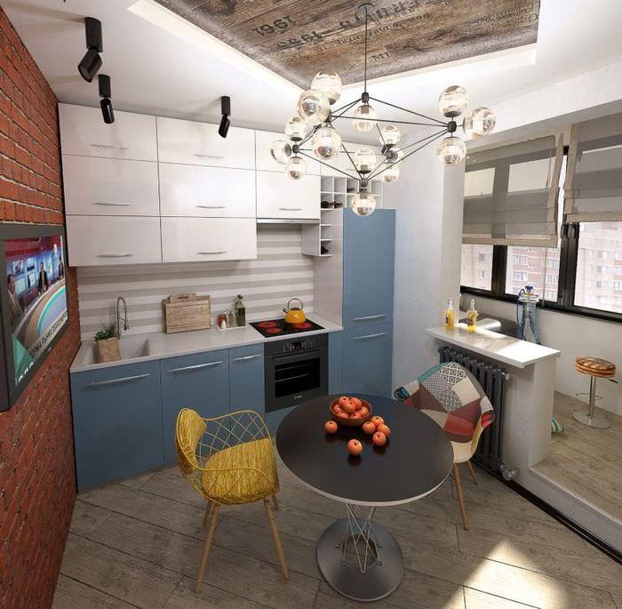 Интерьер кухни в квартире смешанного стиля