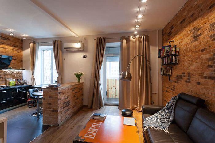 Интерьер квартиры в индустриальном стиле