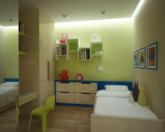 Кровать для ребенка в общей комнате однушки