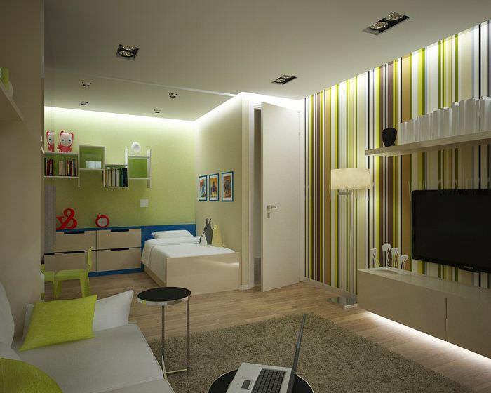 Интерьер квартиры площадью в 35 кв метров для семьи из трех человек