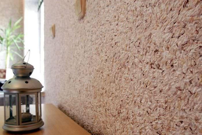 Фото поверхности стены с жидкими обоями