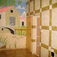 Картина из жидких обоев на стене детской комнаты