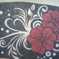 Цветочные узоры из самодельных жидких обоев