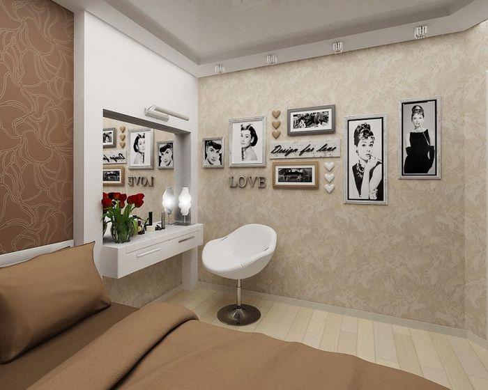Фотографии на стене с жидкими обоями