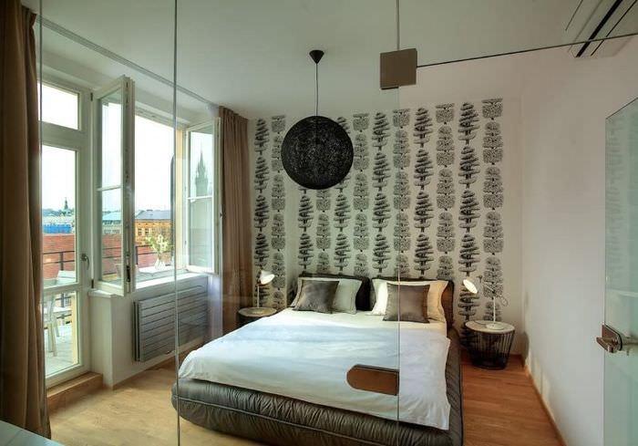 Дизайн спальни в современной трехкомнатной квартире