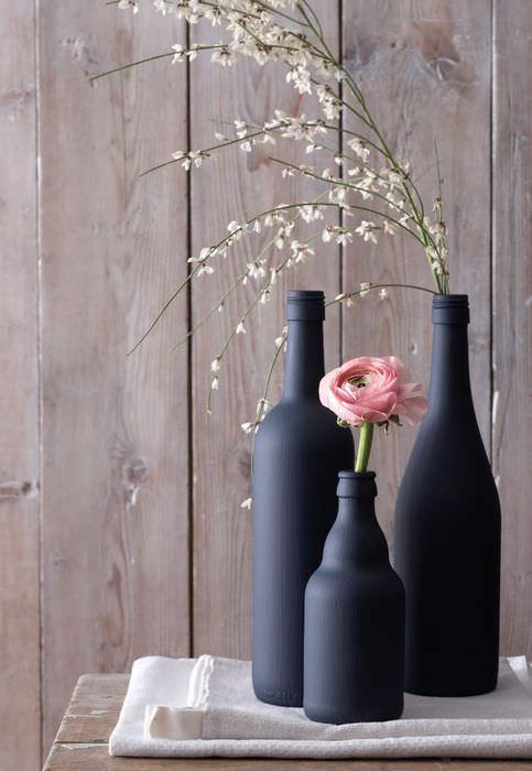 Декорирование пустых бутылок своими руками
