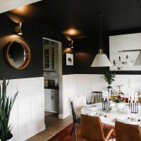 Необычное использование черного цвета в интерьере кухни