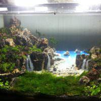 Подводные водопады из природных камней