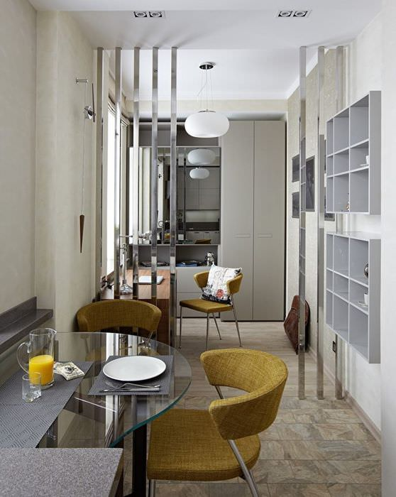 Зонирование пространства в маленькой квартире-студии