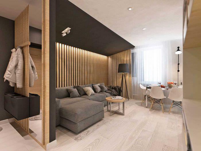 Дизайн гостиной зоны в городской квартире