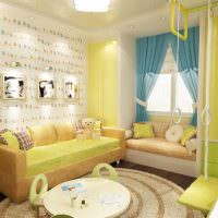 Желтый цвет в оформлении детской