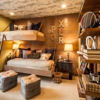 Подвесные кровати в детской спальне