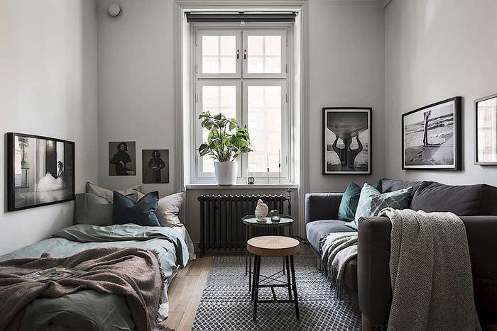 Картины в оформлении интерьера общей комнаты