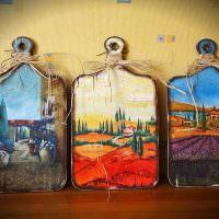 Декоративные разделочные доски с росписью