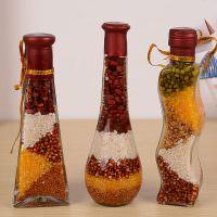 Красивые бутылки с крупами для декора кухни