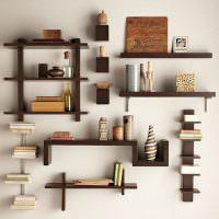 Декоративные полки из деревянных дощечек