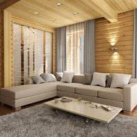 Светло-серый диван угловой конфигурации