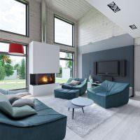 Бекаркасная мебель в интерьере гостиной
