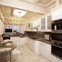 Кухня из дерева в светлых оттенках