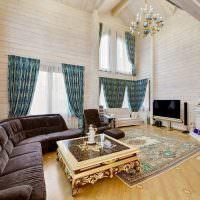 Угловой диван с бархатной обивкой