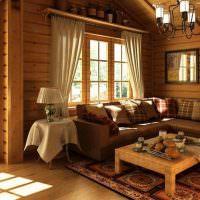 Уютное место для отдыха в гостиной частного дома