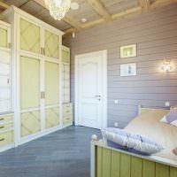 Дизайн детской комнаты в доме из клееного бруса
