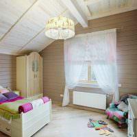 Детская комната с классической мебелью