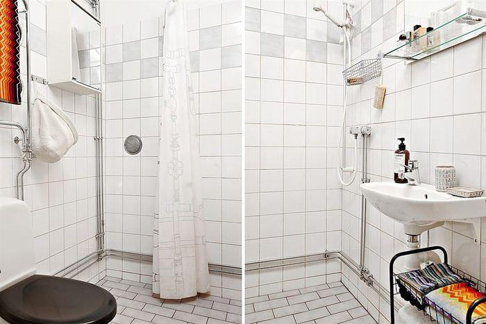 Обустройство небольшого сантехнического узла с душем и туалетом