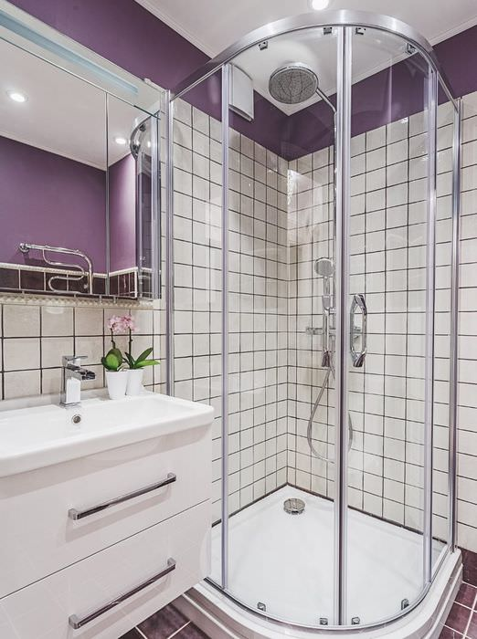 Стеклянная перегородка в ванной комнате