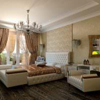 Мебель с кожаной обивкой белого цвета