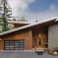 Современный дом с односкатной крышей