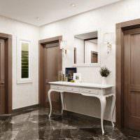 Дизайн коридора с одинаковыми дверями