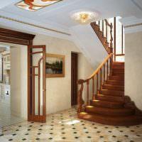 Потолок в прихожей с полиуретановой лепниной