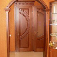 Облицовка дверного проема МДФ-панелями