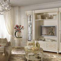 Современное оформление гостиной в классических традициях