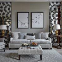 Модульные картины в декоре гостиной