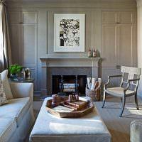 Серый цвет в оформлении гостиной в панельном доме